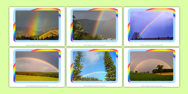 Rainbows Photo Pack - EYFS, Early Years, weather, Spring, seasons, rain, sun, colours