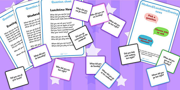 Editable Weekend Evening Lunchtime News Activity - news, games