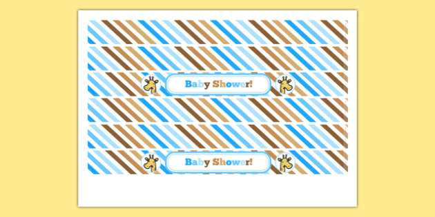 Baby Shower Cake Ribbon Blue Themed - baby shower, baby, shower, newborn, pregnancy, new parents, cake ribbon