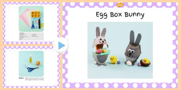 Egg Box Bunny Craft Instructions PowerPoint - powerpoint, craft