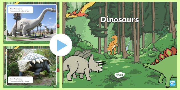 Dinosaur Names Task Setter PowerPoint - dinosaurs, dinosaur names, dinosaur names powerpoint, pronouncing dinosaur names, dinosaur history, earth history