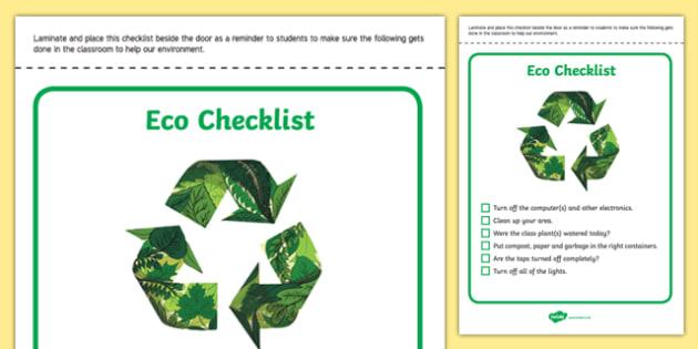 Eco Checklist