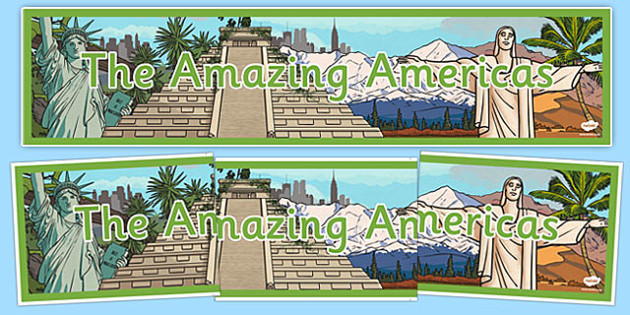 The Amazing Americas Display Banner - amazing americas, display banner