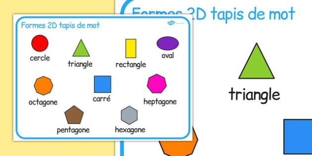 Formes en 2D Food Sorting Français - français, forme 2d, tapis de word, word, forme 2d, mat, maths, calcul