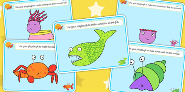 Playdough Mats to Support Teaching on Sharing a Shell - playdough mats, play, story book