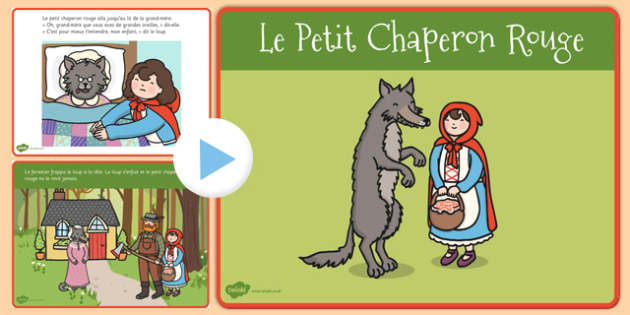 Le petit chaperon rouge Story PowerPoint French - french, little red riding hood, story, powerpoint