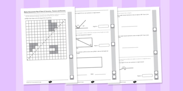 Year 5 Maths Assessment: Geometry - Properties of Shapes Term 3 - Maths, Assessment, Geometry, Shape