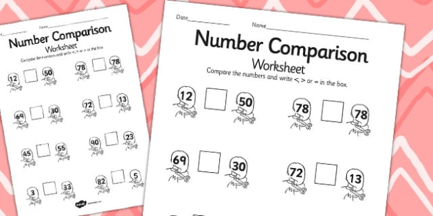 Rapunzel Number Comparison Worksheets - rapunzel, number, sheet
