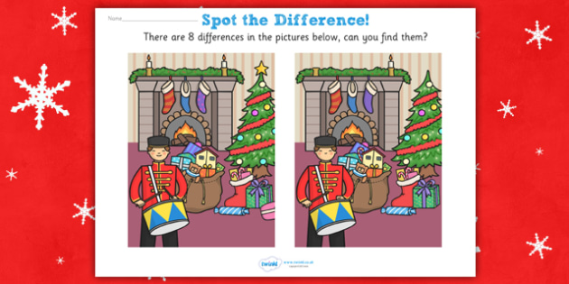 Toy Soldier Spot the Difference - spot the difference, differences, toy soldier, game, fun, activity, spot-the-difference, observation skills, comparison, comparing