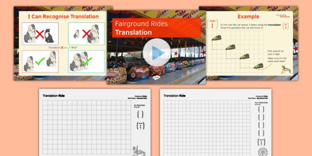 Fairground Rides Translation SEN MLD - maths, KS3, SEN, MLD, geometry, rotation, translation, reflection, project,