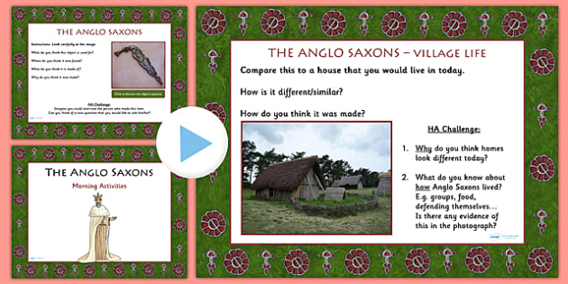 1 Week Anglo Saxons Topic Morning Activities LKS2 - saxons