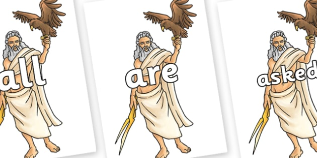 Tricky Words on Zeus - Tricky words, DfES Letters and Sounds, Letters and sounds, display, words