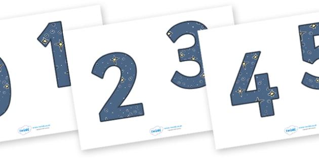 0-9 Display Numbers (Space) - Display numbers, 0-9, numbers, display numerals, display lettering, display numbers, display, cut out lettering, lettering for display, display numbers
