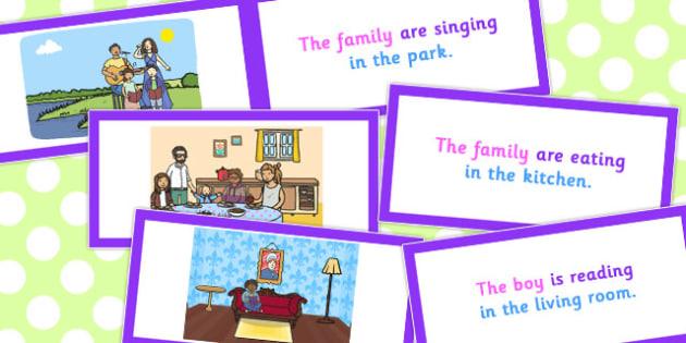 Picture Description Card Who What Doing Where Set 2 - description