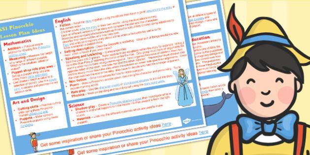 Pinocchio KS1 Lesson Plan Ideas - Pinocchio, Lesson Plans, Ideas