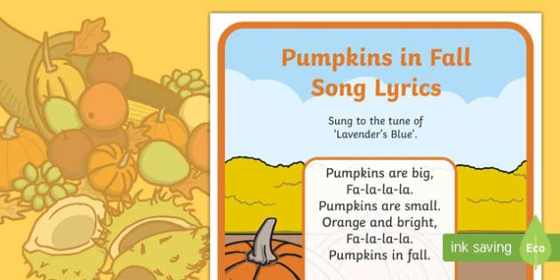 Pumpkins in Fall Song Lyrics