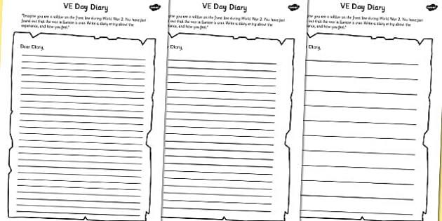 day diary writing template ve day diary writing template