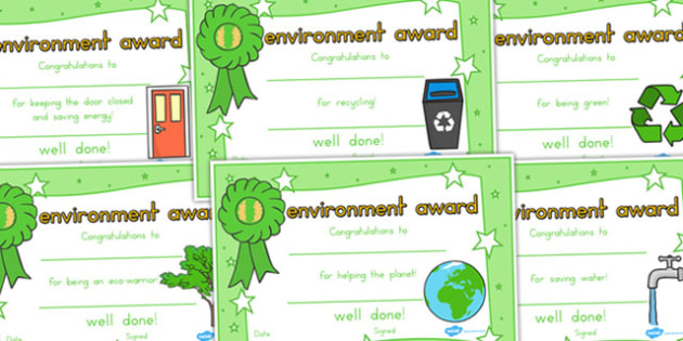 Environment Certificates - Environment, Certificate, Achievement
