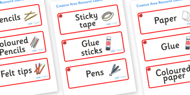 Poppy Themed Editable Creative Area Resource Labels - Themed creative resource labels, Label template, Resource Label, Name Labels, Editable Labels, Drawer Labels, KS1 Labels, Foundation Labels, Foundation Stage Labels