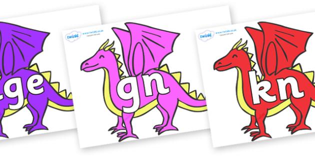 Silent Letters on Dragons - Silent Letters, silent letter, letter blend, consonant, consonants, digraph, trigraph, A-Z letters, literacy, alphabet, letters, alternative sounds