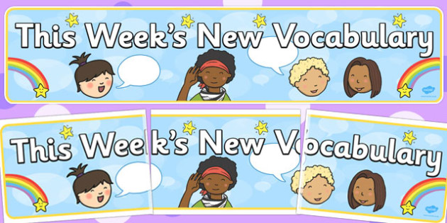This Week's New Vocabulary' Display Banner - display, banner, week