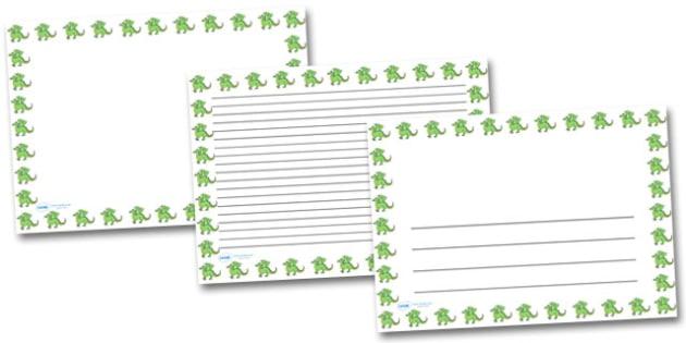 Dragon Landscape Page Borders- Landscape Page Borders - Page border, border, writing template, writing aid, writing frame, a4 border, template, templates, landscape