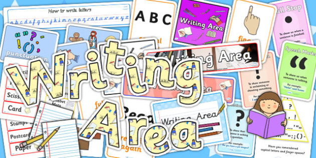 Writing Area Display Resource Pack - display pack, literacy pack