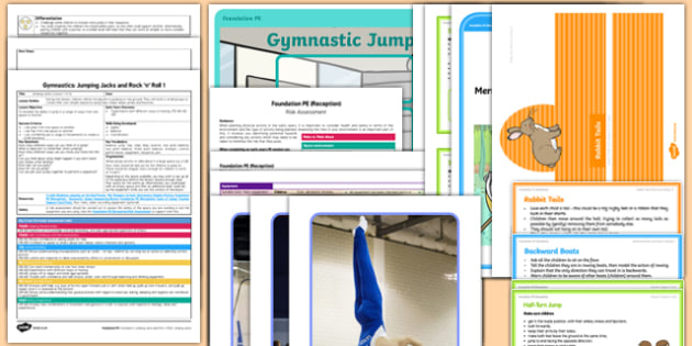 Gymnastics Jumping Jacks And Rock N Roll Lesson Pack 1 Jumping Jacks - EYFS, PE, Physical Development, Planning