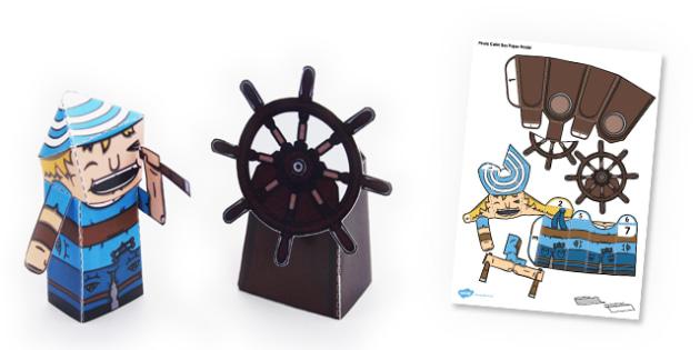 Pirate Cabin Boy Paper Model - Pirate, Paper, Model, Cabin, Boy