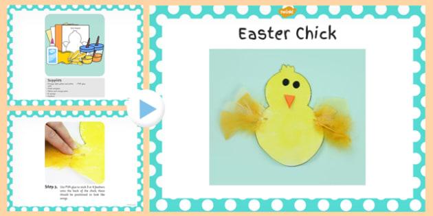 Chick Craft PowerPoint - chick, craft, powerpoint, activity