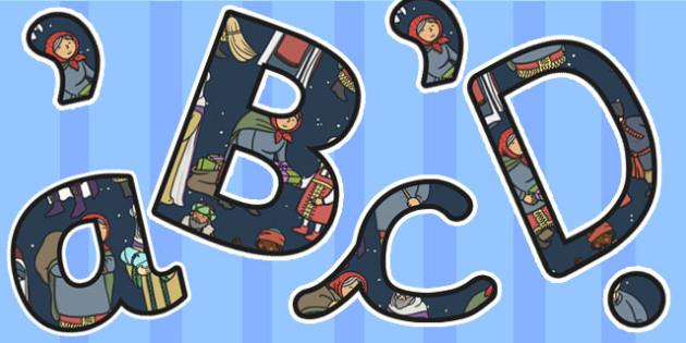 Babushka Themed Size Editable Display Lettering - babushka, size