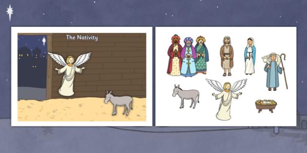 Make Your Own Nativity Scene A4 - nativity, scene, nativity scene, a4, make