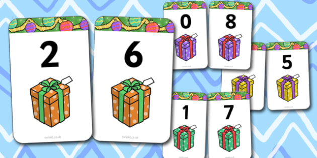 Number Bonds to 8 Present Matching Cards Activity - christmas