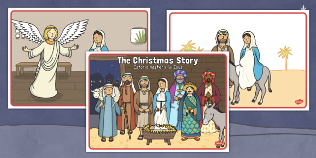 Short Christmas Story Sequencing Romanian Translation - romanian, short, christmas, story, sequencing
