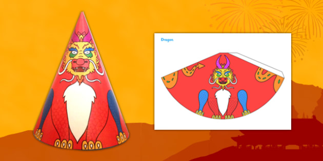 Chinese New Year Dragon Cone Craft - chinese new year, craft
