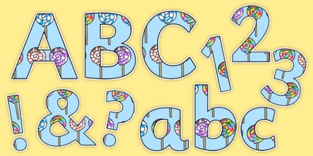 Five Lollipops Display Lettering - nz, new zealand, five lollipops, display lettering