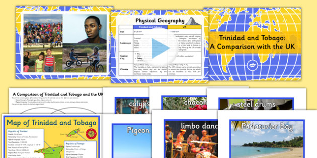 A Comparison of Trinidad and Tobago with the UK Teaching Pack - comparison, trinidad, tobago, uk