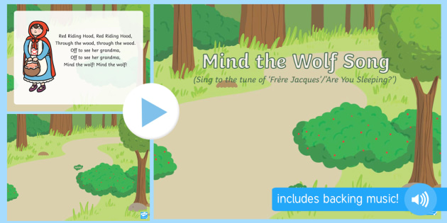 Mind the Wolf Song PowerPoint