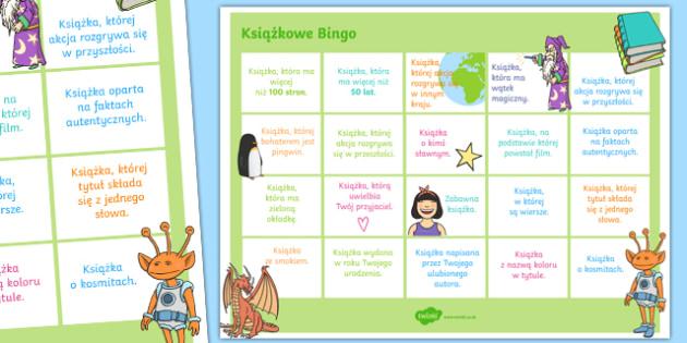 Plakat Książkowe Bingo po polsku