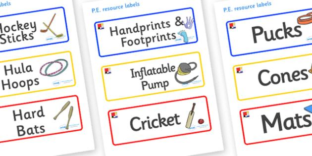 Mondrian Themed Editable PE Resource Labels - Themed PE label, PE equipment, PE, physical education, PE cupboard, PE, physical development, quoits, cones, bats, balls, Resource Label, Editable Labels, KS1 Labels, Foundation Labels, Foundation Stage L