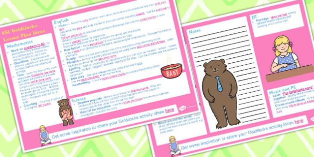 Goldilocks KS1 Lesson Plan Ideas and Resource Pack - Goldilocks