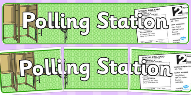 Polling Station Role Play Banner - polling, station, role-play