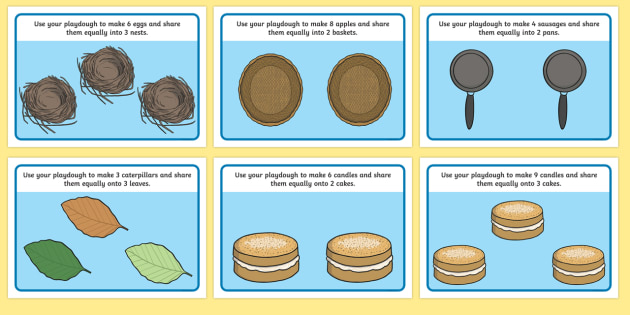 Division Playdough Mats - Division, playdough, mat, playdough resources, numeracy, numbers, playdough