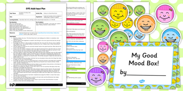 Going on a Good Mood Hunt EYFS Adult Input Plan and Resource Pack