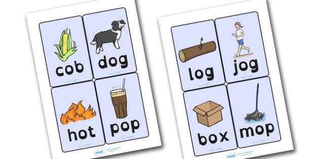 CVC Word Cards O Dyslexia - cvc word cards, cvc word cards in dyslexia font, cvc dyslexia word cards, cvc o word cards, dyslexic font cvc o word cards, sen