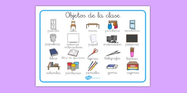 Tapiz de vocabulario de objetos de la clase - etiquetar, aula, decoración, etiquetas, muebles