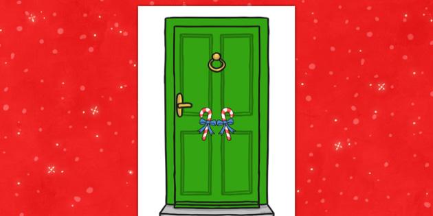 Elf Door - elf door, elf, door, christmas, display, doorway, doorframe