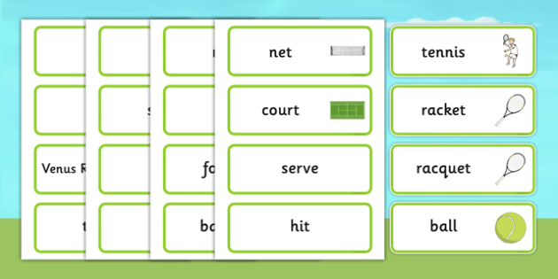 Wimbledon Word Cards - wimbledon, wimbledon championships, wimbledon key words, wimbledon cards, tennis, tennis word cards, tennis key words, sports
