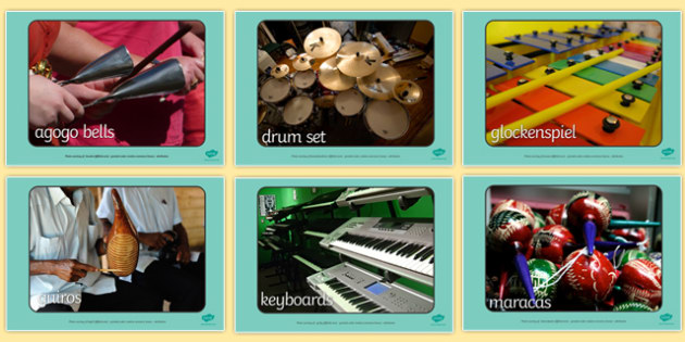 Musical Instrument Display Photos - Music, instrument, photo, display photo, playing instruments, piano, drums, guitar, recorder, violin, triangle, cymbals, notes, music