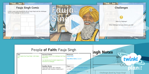 RE: People of Faith: Fauja Singh Year 4 Lesson Pack 4
